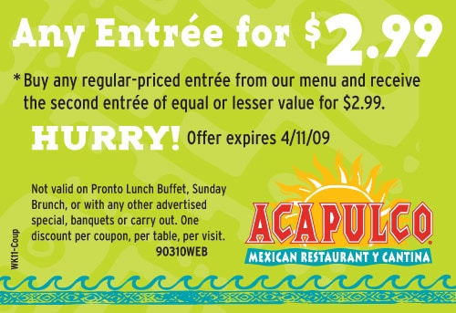 More About Acapulco & Acapulco Coupons Introduction Acapulco infuses the savory flavors of Mexican coastal cuisine with California's freshness and innovation, creating stimulating flavor combinations to be enjoyed in their resort-inspired restaurants.