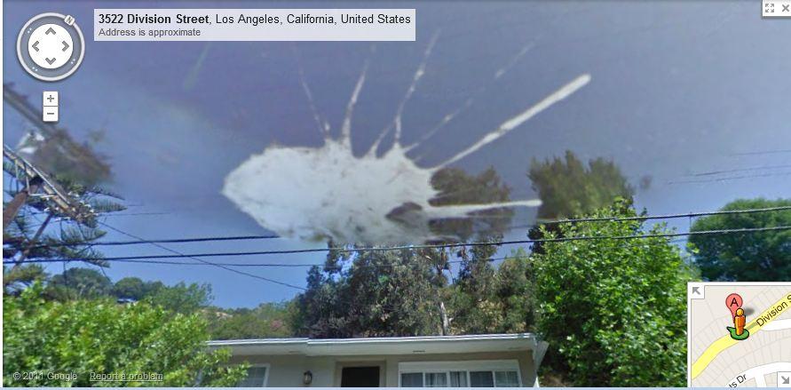 Bird Poop On Google Street View Camera Victor Caballero