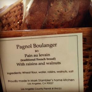 Pagnol Boulanger Mark Stambler Say Cheese bread sale Silver Lake