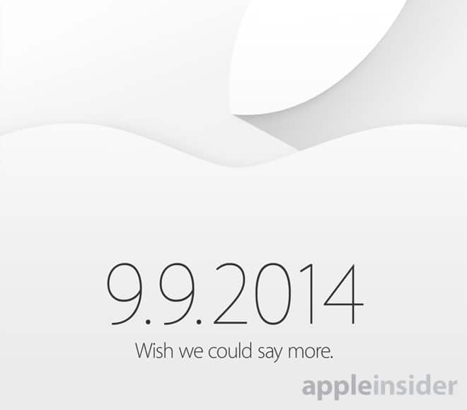 Apple Event 9-9-2014 Invite